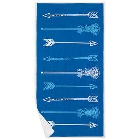 Girls Lacrosse Premium Beach Towel - Lacrosse Arrows