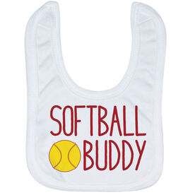 Softball Baby Bib - Softball Buddy