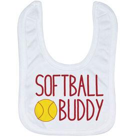 Softball Baby Bib - Softball Buddy