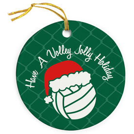 Volleyball Porcelain Ornament Have A Volley Jolly Holiday