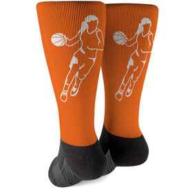Basketball Printed Mid-Calf Socks - Girl Player