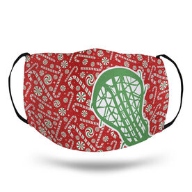 Girls Lacrosse Face Mask - Stick with Candy Canes