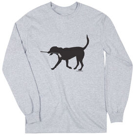 Hockey Tshirt Long Sleeve Howe the Hockey Dog