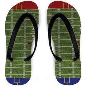 Football Flip Flops Field