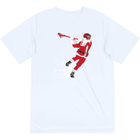 Guys Lacrosse Short Sleeve Performance Tee - Santa Laxer