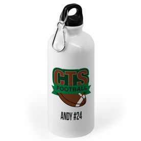 Football 20 oz. Stainless Steel Water Bottle - Custom Logo