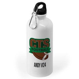 Football 20 oz. Stainless Steel Water Bottle - Custom Logo