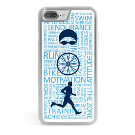 Triathlon iPhone® Case - Swim Bike Run Inspiration Male