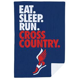Cross Country Premium Blanket - Eat. Sleep. Cross Country. Vertical