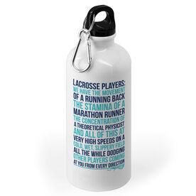Girls Lacrosse Stainless Steel Water Bottle - Lacrosse Players