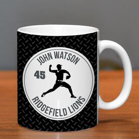 Baseball Coffee Mug Personalized Pitcher