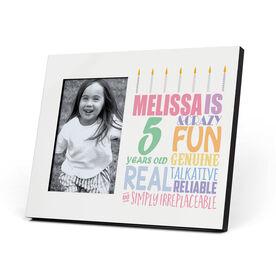 Personalized Photo Frame - Birthday Cake Adjective (Girl)