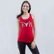 Women's Athletic Tank Top - Run Heart