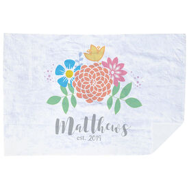 Personalized Premium Blanket - Family Flowers