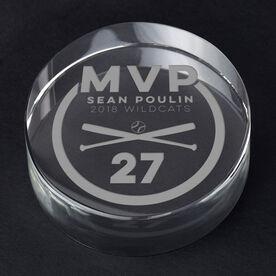 Baseball Personalized Engraved Crystal Gift - MVP Award