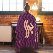 Swimming Premium Blanket - Personalized Thanks Coach Chevron