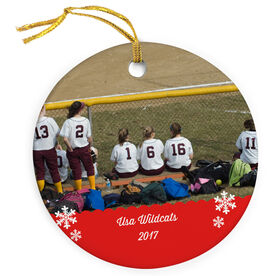 Softball Porcelain Ornament Custom Personalized Photo