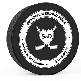 Personalized Official Wedding Hockey Puck