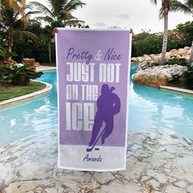 Hockey Premium Beach Towel - Pretty And Nice Just Not On The Ice