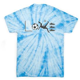 Soccer Short Sleeve T-Shirt - Soccer Love Tie Dye