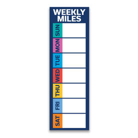 "Running 12.5"" X 4"" Removable Wall Tile - Weekly Miles Dry-Erase (Vertical)"