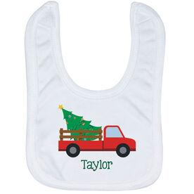 Baby Bib - Custom Name Christmas Tree Pickup