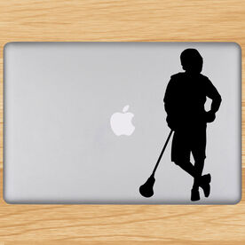 Chillax'n Lacrosse Player Removable ChalkTalkGraphix Laptop Decal