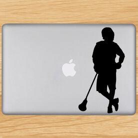 Chillax'n Lacrosse Player Removable ChalkTalkGraphix Laptop Decal