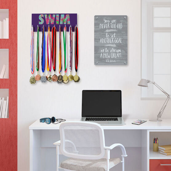 Swimming Hooked on Medals Hanger - Floral Swim