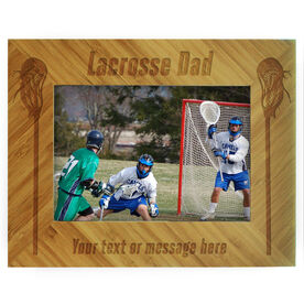 Lacrosse Bamboo Engraved Picture Frame Lacrosse Dad