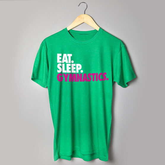 Gymnastics T-Shirt Short Sleeve Eat. Sleep. Gymnastics.