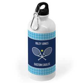 Tennis 20 oz. Stainless Steel Water Bottle - Team With Rackets