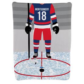 Hockey Baby Blanket - Hockey Player