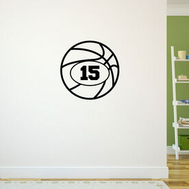 Personalized Basketball ChalkTalkGraphix Wall Decal