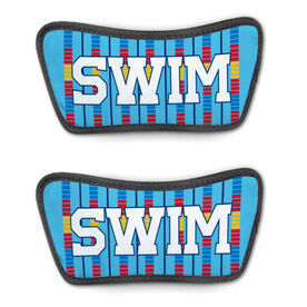 Swimming Repwell® Sandal Straps - Swim Lanes with Bold Text