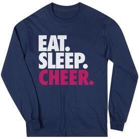 Cheerleading T-Shirt Long Sleeve Eat. Sleep. Cheer.