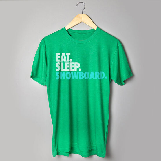Snowboarding T-Shirt Short Sleeve Eat. Sleep. Snowboard.