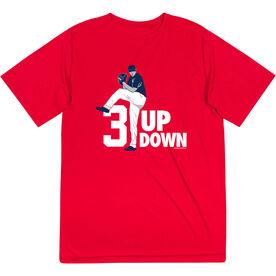 Baseball Short Sleeve Performance Tee - 3 Up 3 Down