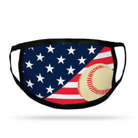 Baseball Adult Face Mask - USA Flag