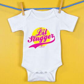 Softball Baby One-Piece Lil Slugger Girl