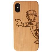 Baseball Engraved Wood IPhone® Case - Catcher