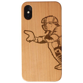Baseball Engraved Wood IPhone® Case - Catcher