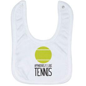 Tennis Baby Bib - I'm Told I Like Tennis
