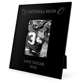 Football Engraved Picture Frame - Football Mom