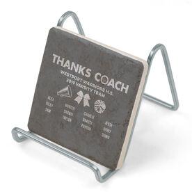 Cheerleading Stone Coaster - Thanks Coach Roster