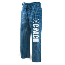 Hockey Lounge Pants Coach with Puck and Sticks