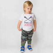Girls Lacrosse Baby T-Shirt - Apparently, I Like Lacrosse