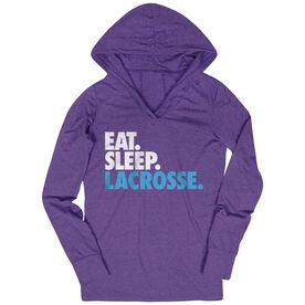 Girls Lacrosse Lightweight Performance Hoodie Eat. Sleep. Lacrosse.