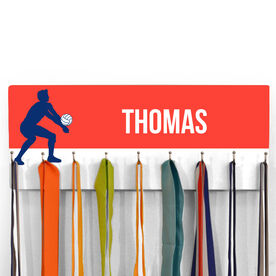 Volleyball Hooked on Medals Hanger - Guy Silhouette