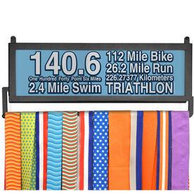 TriathletesWALL 140.6 Math Miles Medal Display